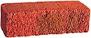 Cottage Style Super Red Color Rock Face Clay Brick