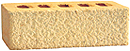 Golden Cream Color Rock Face Clay Brick with Shade