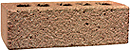 Golden Peach Color Rock Face Clay Brick with Dark Clinker Shade