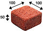 Super Red Color Cobble Clay Paver