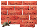 Cottage Style Super Red Color Rockface Brick