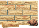 Golden Cream Color Rockface Brick with Clinker Shade