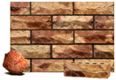 Golden Sand Color Rockface Brick with Sunset Clinker Shade