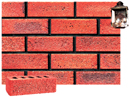Super Red Color Sandblast Brick with Antique Clinker