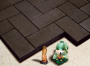 Dark Brown Color Wirecut Paver
