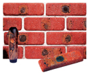 Super Red Color Cobble Brick Veneer with Shade