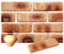 Golden Cream Color Cobble Brick Veneer with Shade