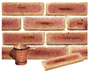 Golden Cream Color Cobble Sliced Brick Veneer with Shade