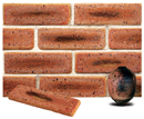 Golden Peach Color Cobble Sliced Brick Veneer with Shade