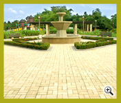 Golden Cream Color Wirecut Paver (3WC259-15) Landscape Project at Kuala Lumpur